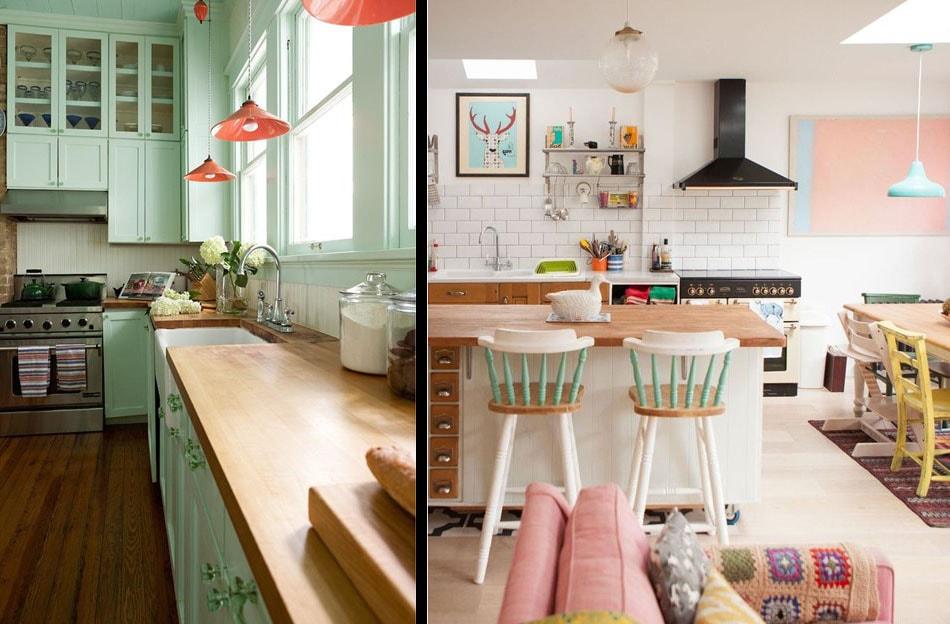 Le vert d'eau dans la cuisine