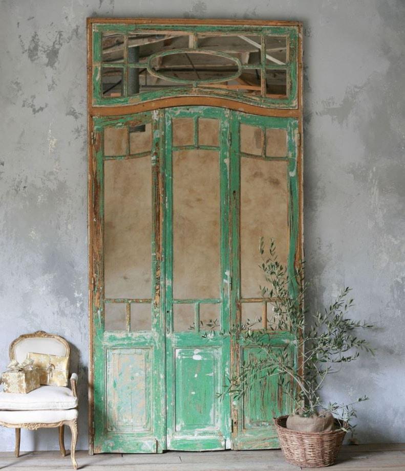 Miroir ancien patiné