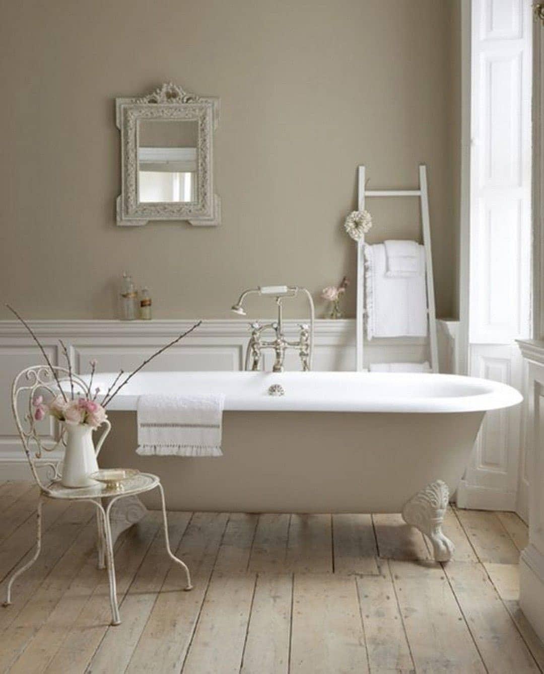 Salle de bain lin et blanc