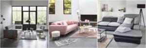 3 exemples de Salon contemporain et moderne