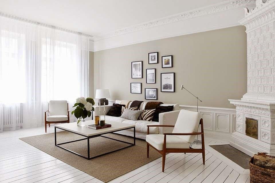 Salon lin et blanc