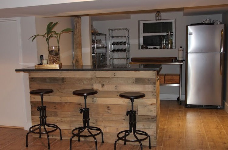 Bar îlot palettes