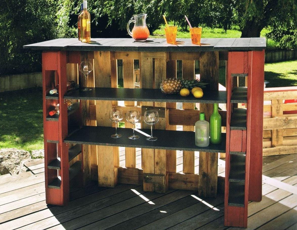 Fabriquer Un Bar En Bois diy - bar en palette : 26 idées et photos pour le fabriquer