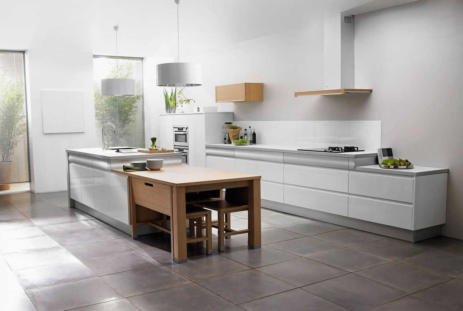 Cuisine Avec Parquet Gris cuisine blanche et bois : 25 idées et photos | ctendance.fr