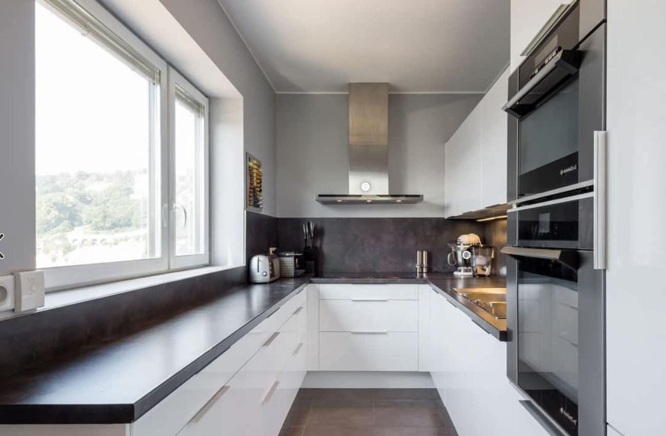 Cuisine grise 40 id es et photos pour votre cusine - Cuisines blanches ...