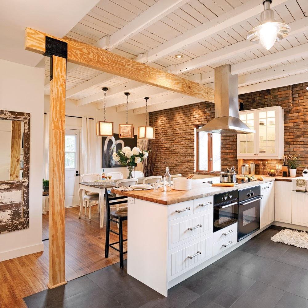 Cuisine Noir Et Blanc Mat cuisine blanche et bois : 25 idées et photos | ctendance.fr