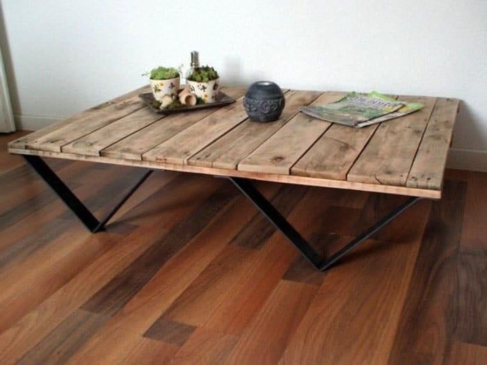 Table Palette Pied Métal