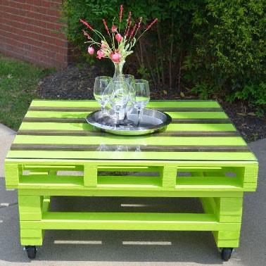 Table Palette Vert Anis