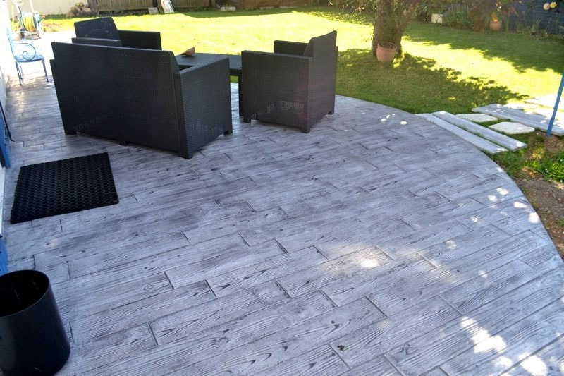 Terrasse béton
