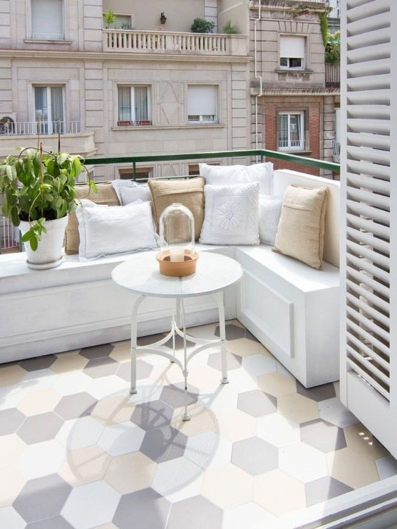 Terrasse carreaux de ciment