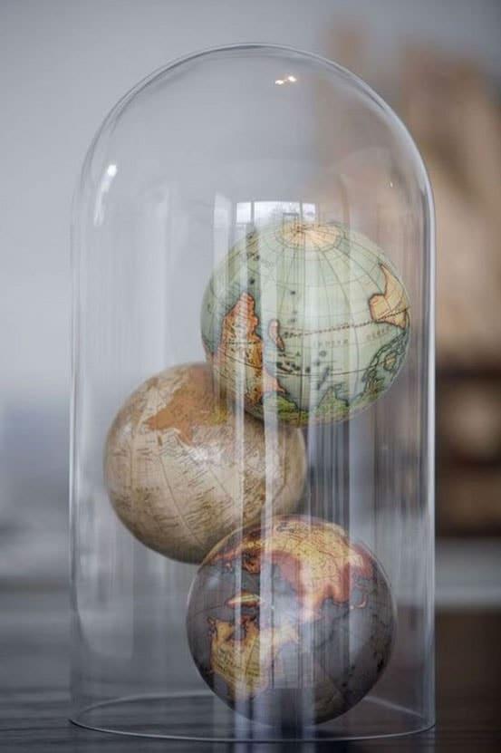 Un Globe Sous Cloche Diy