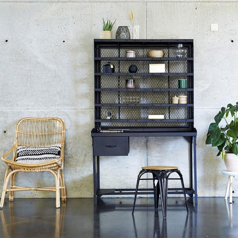 Bureau Style Industriel Avec étagère