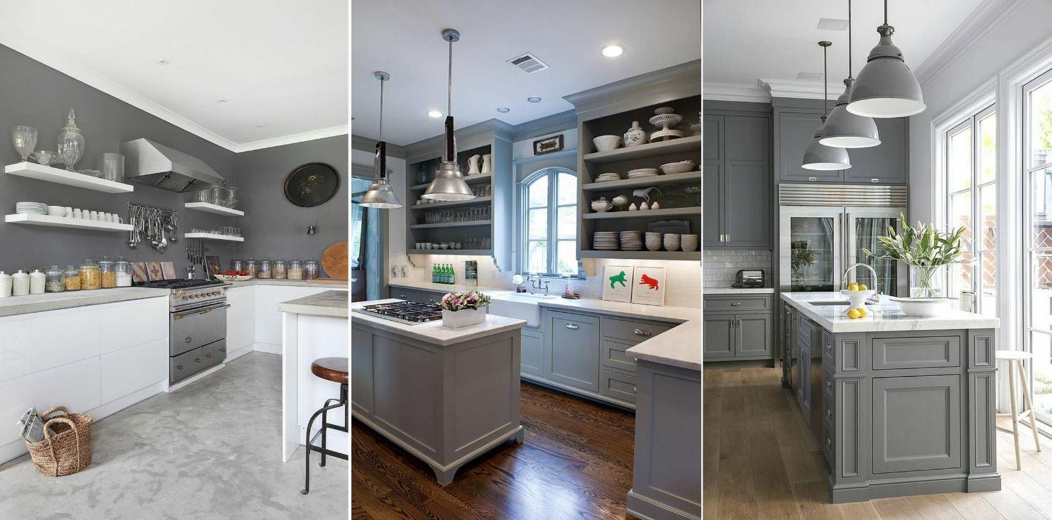 Couleur Mur Cuisine Blanche Et Grise cuisine grise : 40 idées et photos pour votre cusine