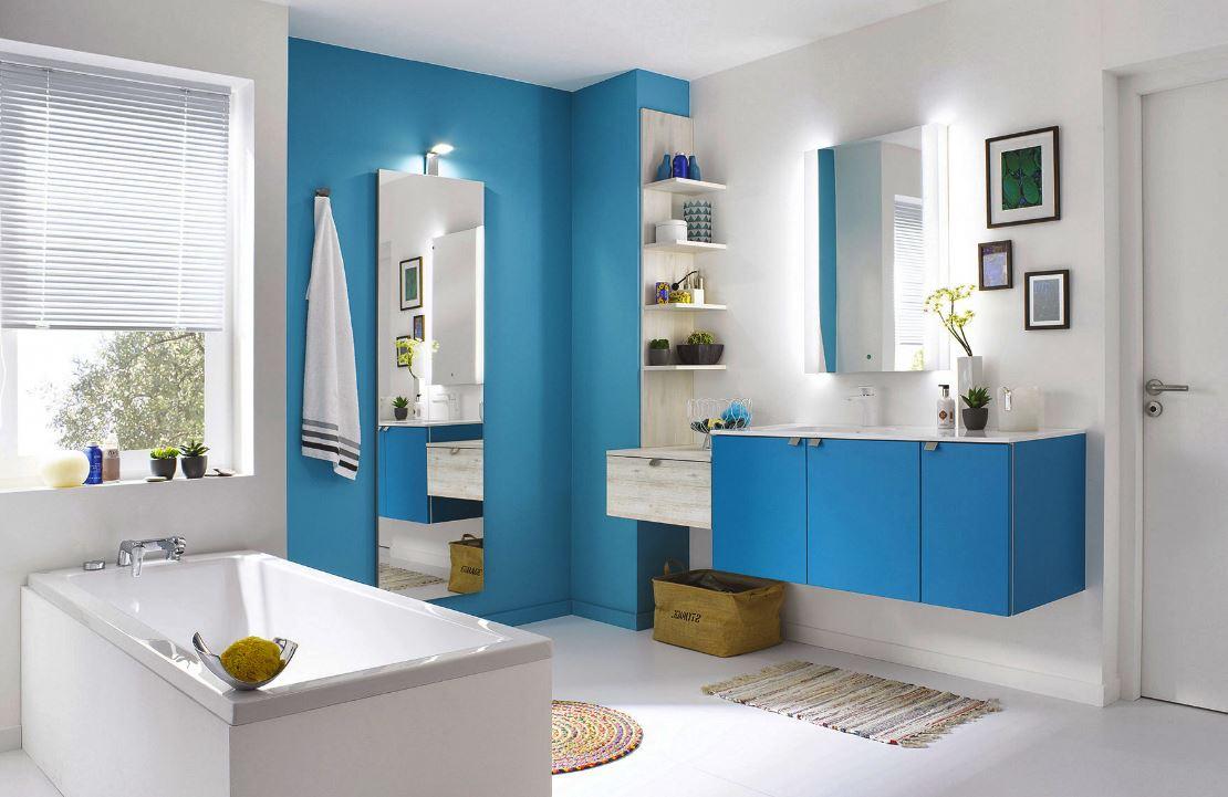 Salle De Bains Bleue