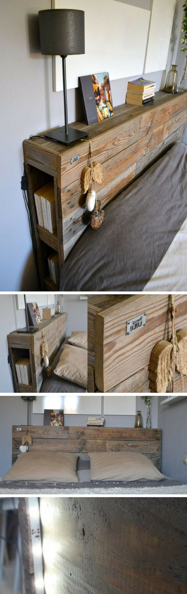 Fabriquer Un Lit En Bois tête de lit en palette : 39 inspirations pour votre chambre