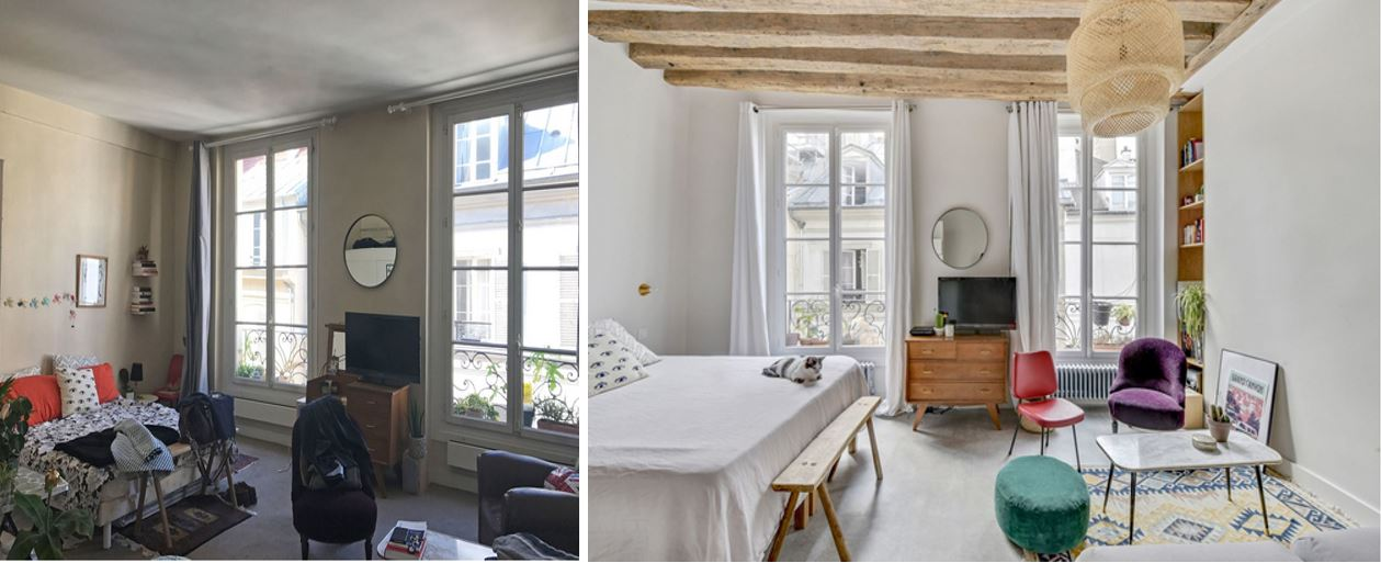 Avant après salon home staging
