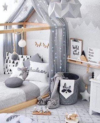 Lit Cabane De Style Montessori