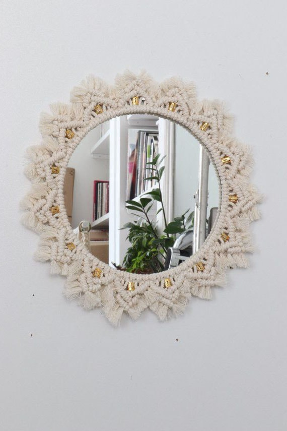 Miroir Déco Macramé