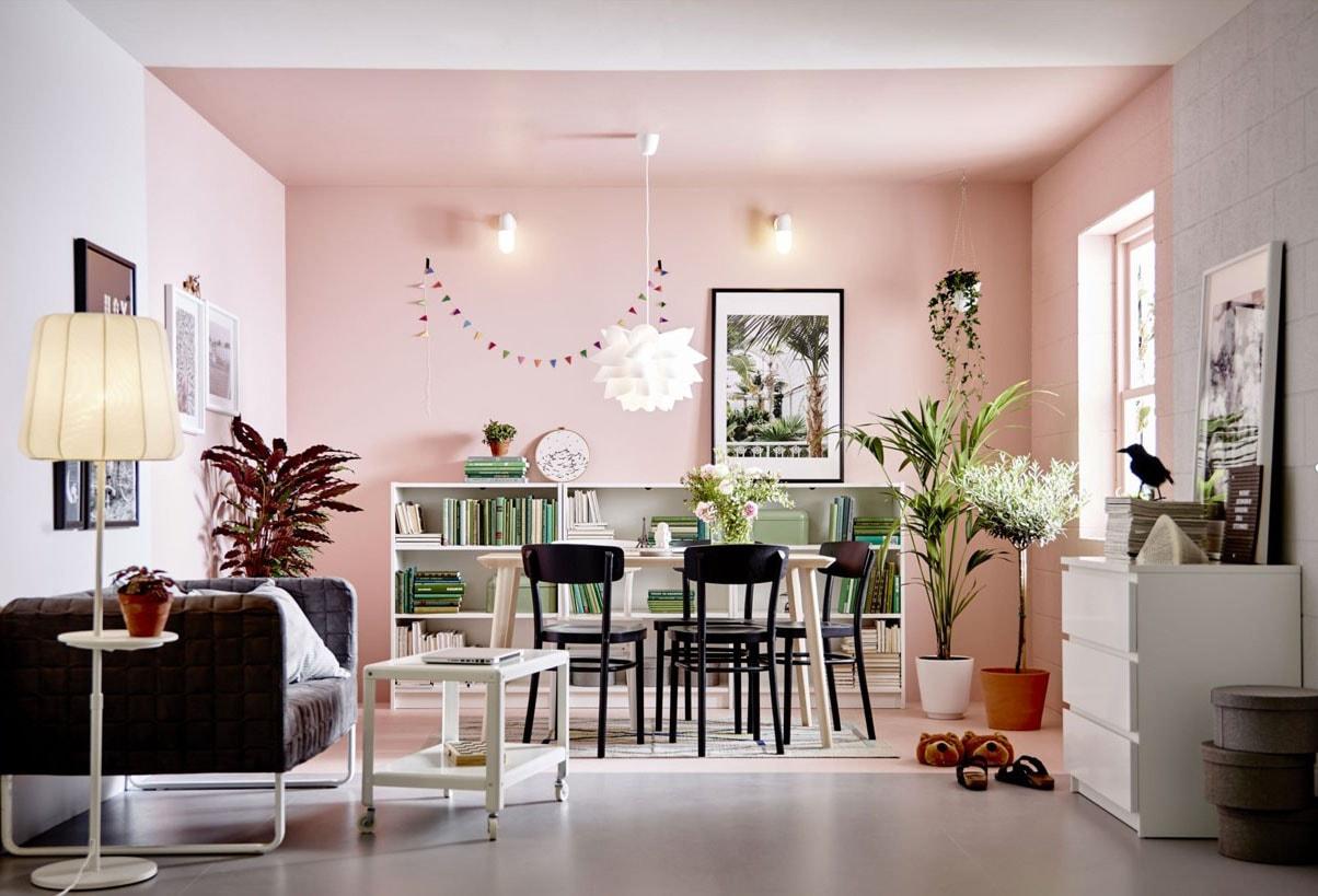 Deco Salon Rose Poudré Et Gris rose poudré : associations de couleurs, idées pour une déco