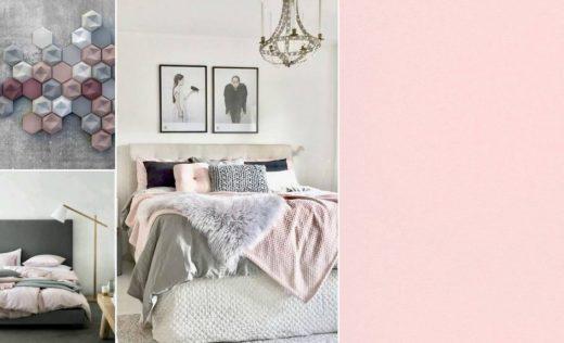 Tout l 39 univers de la maison - Chambre grise et rose poudre ...