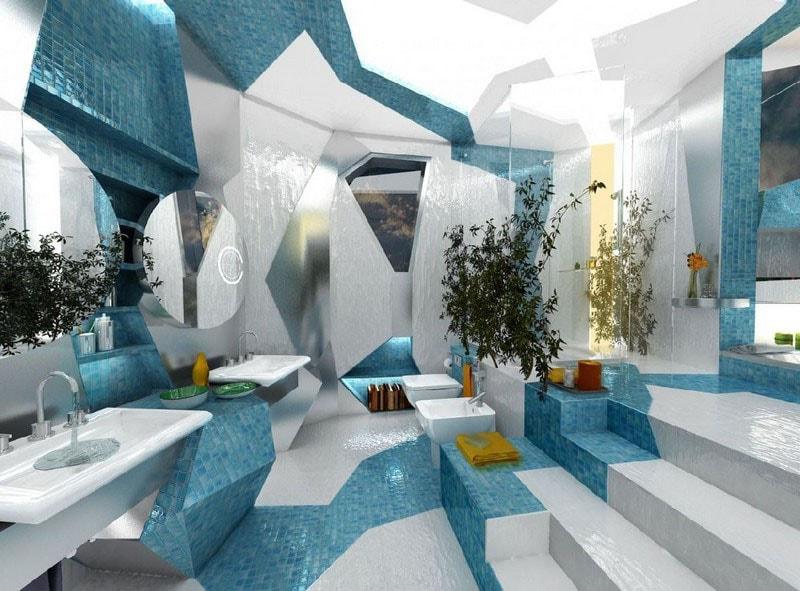 Salle De Bain Turquoise Et Blanc