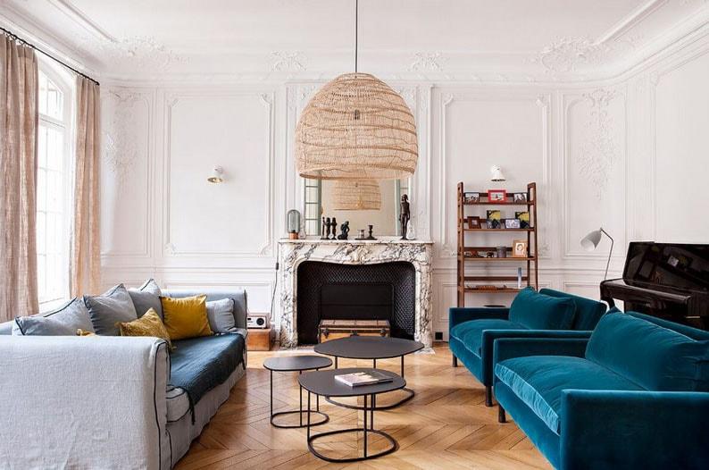 Turquoise Salon Haussmannien © Hervé Goluza Min