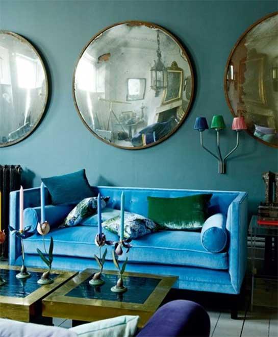 Bleu Pétrole Et Turquoise