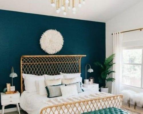 Chambre Bleu Pétrole © Pinterest