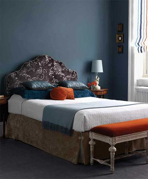 Chambre Bleue Et Orange © Freshidees