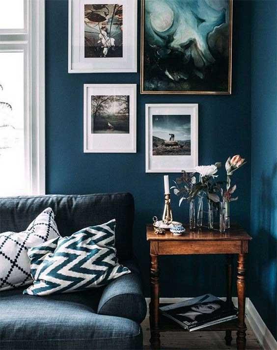 Salon Mur Bleu