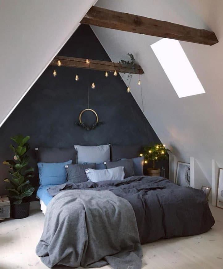 Chambre Style Nordique Avec Poutre Apparente