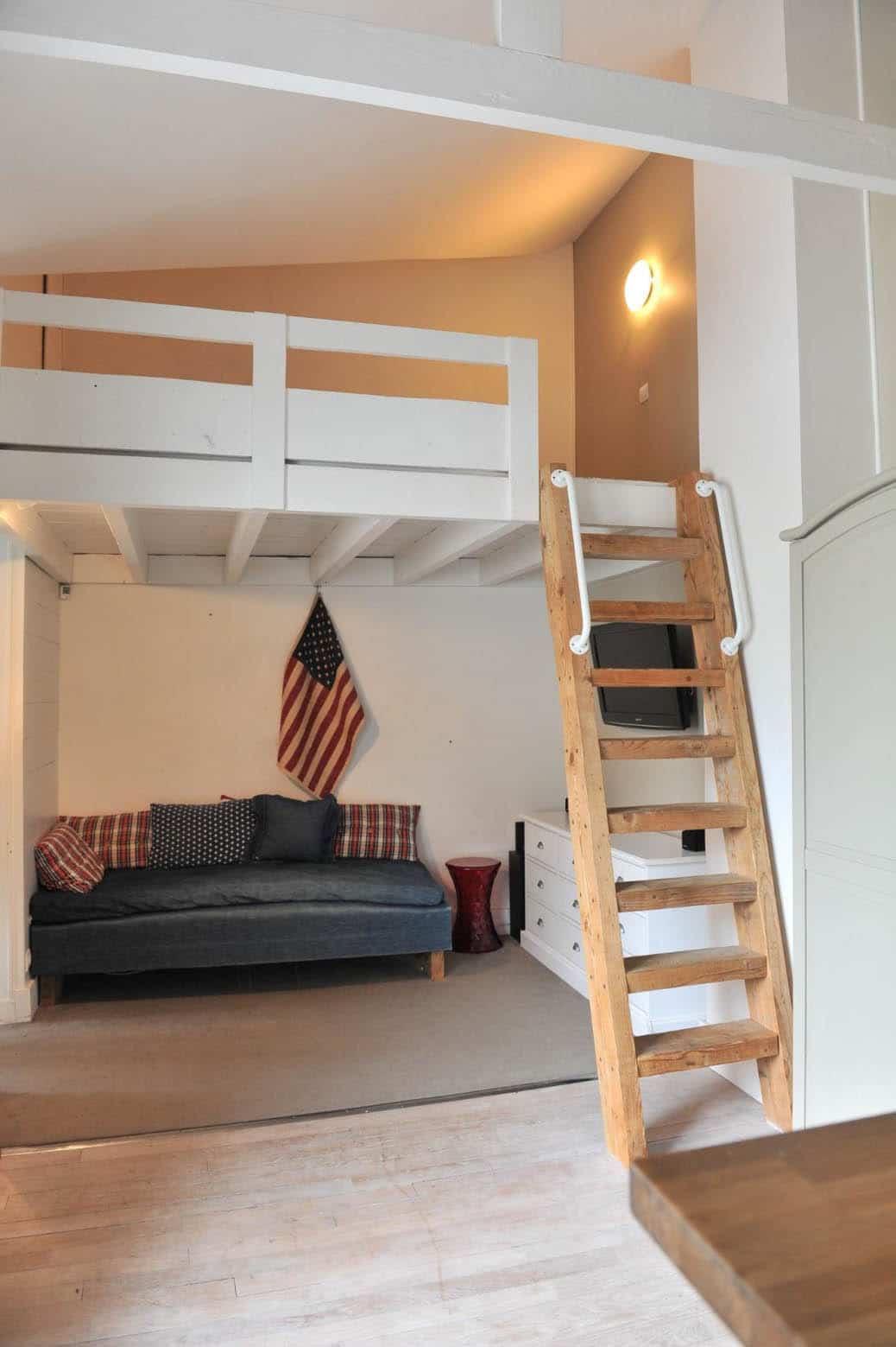Lit Superposé Sous Pente 26 mezzanines pour gagner de la place et optimiser l'espace !