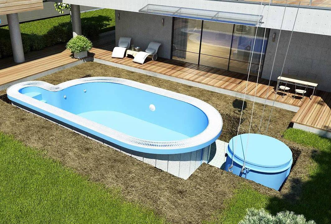 La piscine coque prix installation entretien et - Piscine enterree coque ...