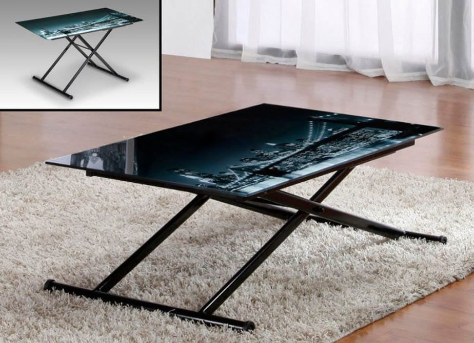 La Table Basse Up And Down En Verre