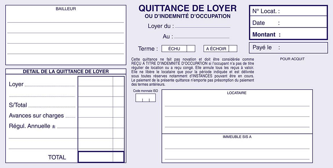 exemple Quitance De Loyer