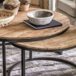 Table bass Industrielle en bois