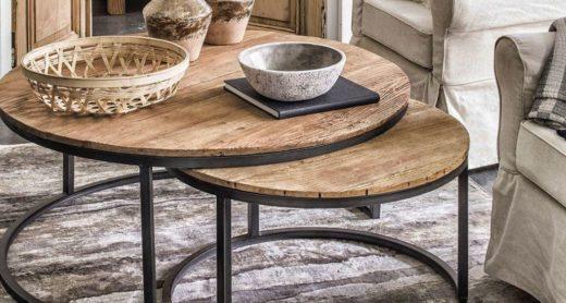 Table bass Industrielle en bois