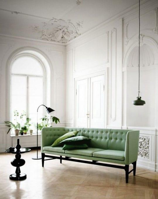 Canapé Vert Néo Mint