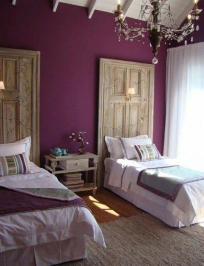 Chambre Romantique Aubergine