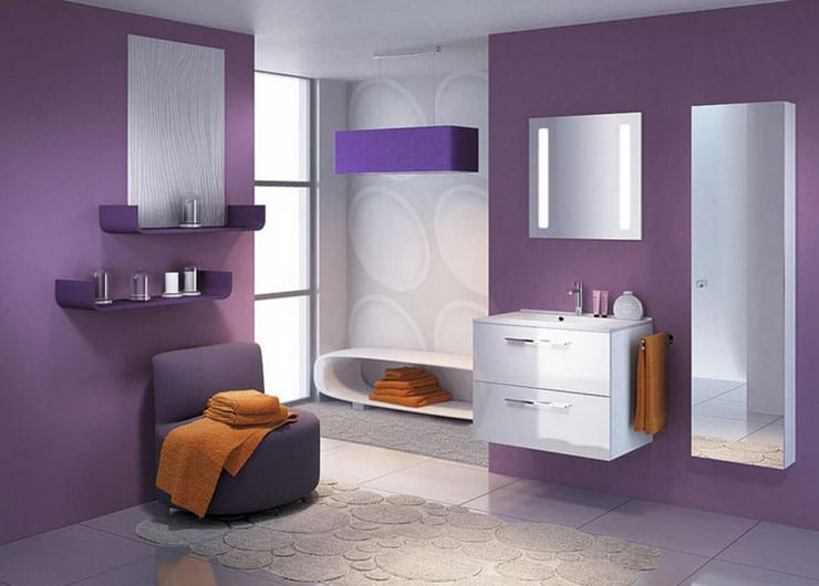 Salle De Bain Parme Et Violet