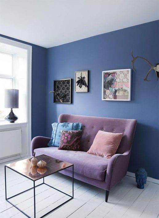 Salon Bleu Et Parme