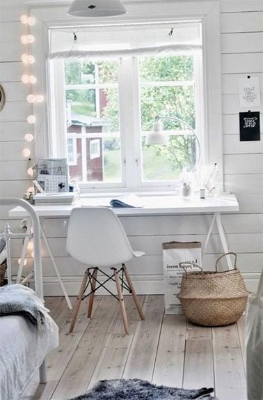 Simplicité pour ce bureau scandinave