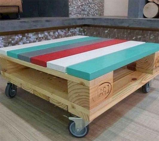 Table Palette Colorée