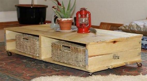 Table Palette Et Osier