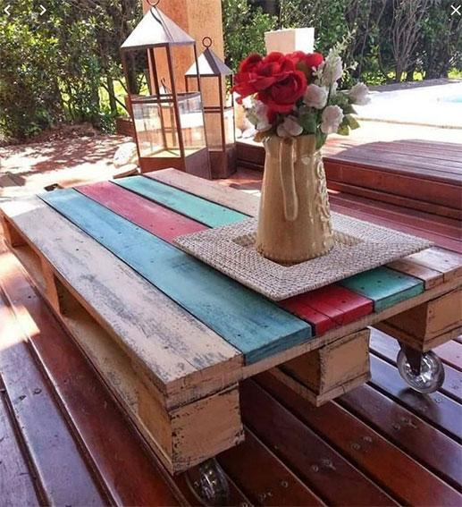 Table Palette Multicolore