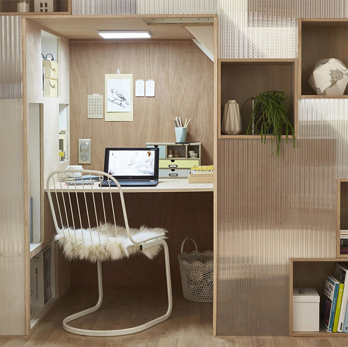Bureau Compact Sous Escalier