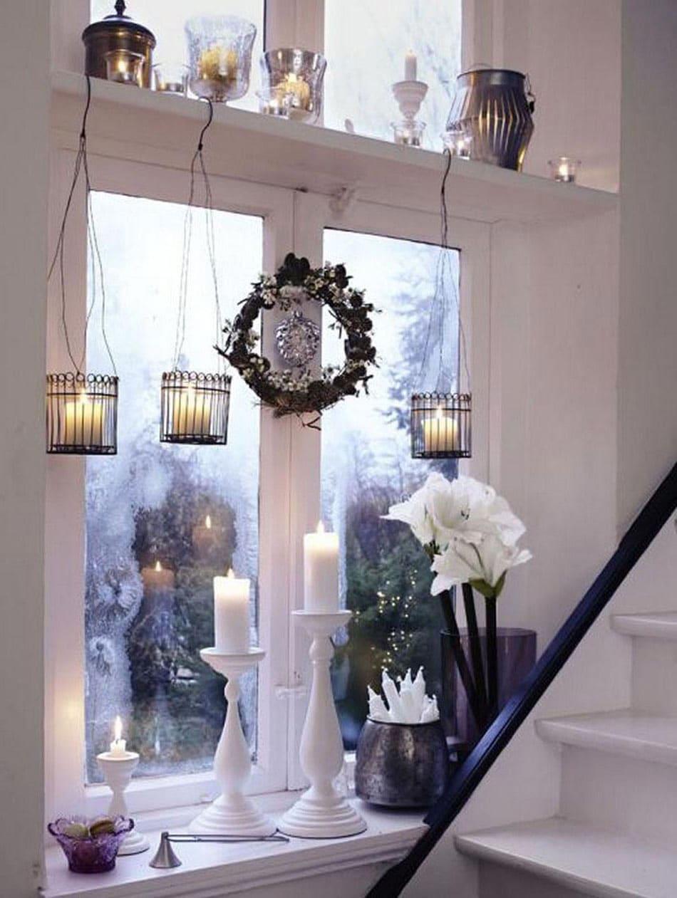 Idee Deco Suspension Salon deco fenêtre noël ▷ 50 supers idées pour décorer vos fenêtres !