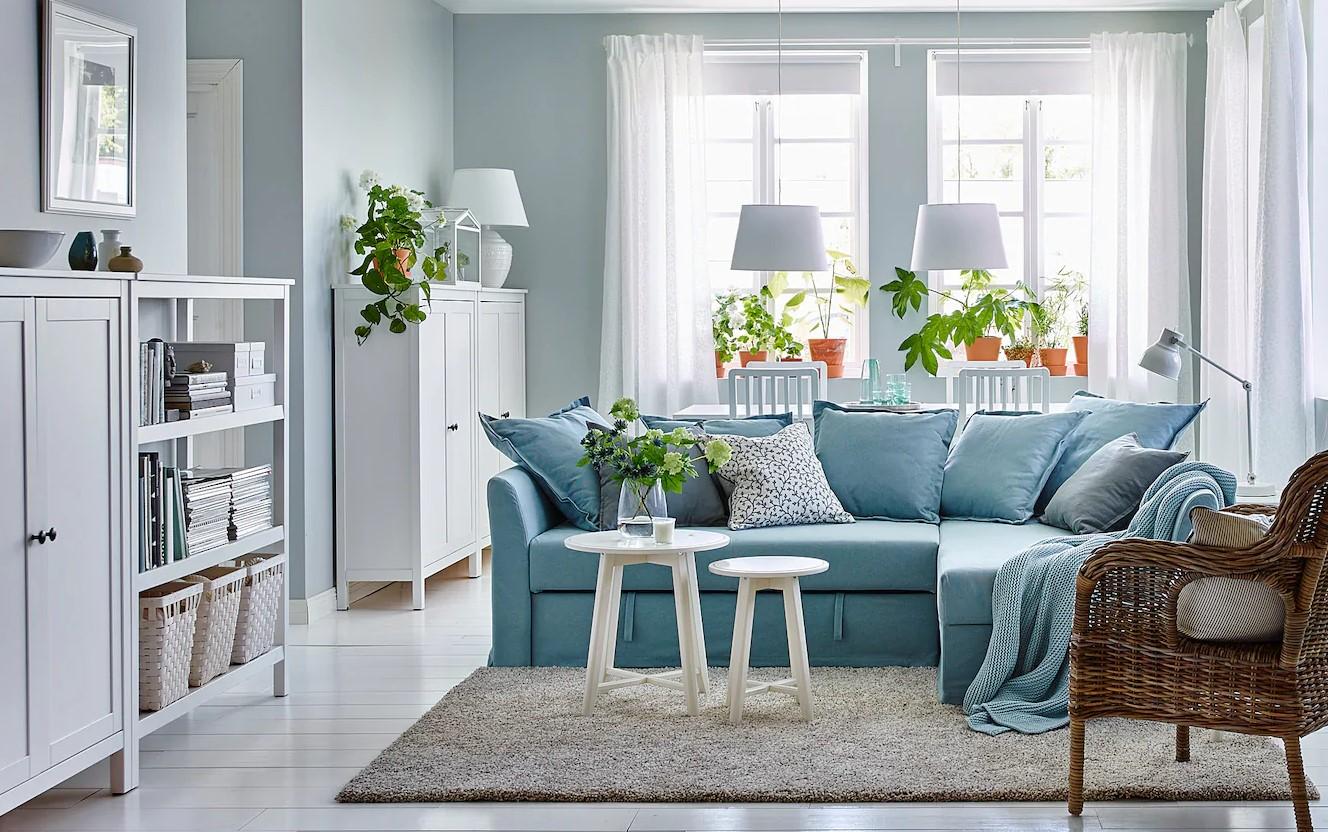 Canapé Lit Bleu