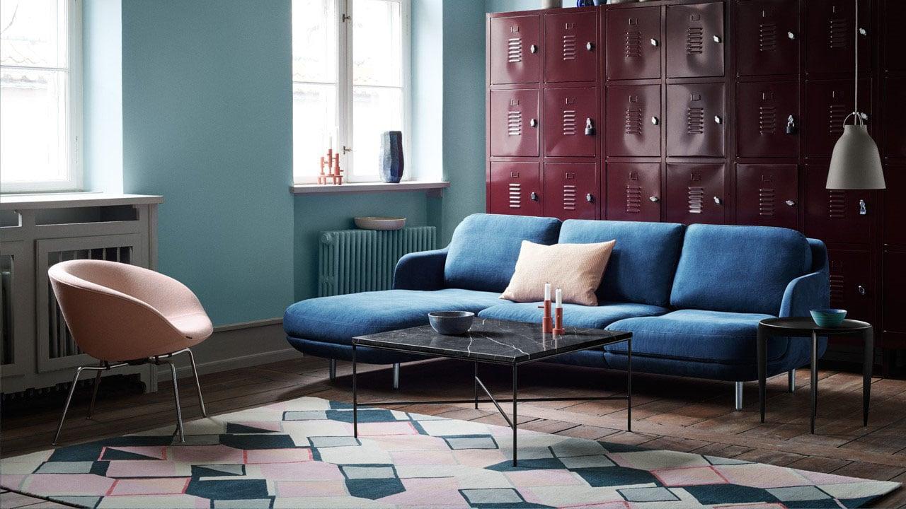 Canapé Modulable Bleu Profond