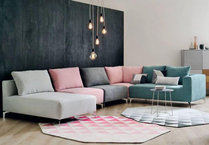 Canapé Modulable Coloré